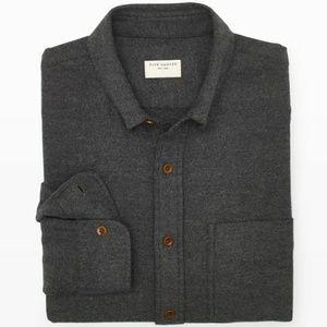 Club Monaco Slim-Fit Twill Shirt - Charcoal (xs)